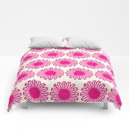 vintage flowers pink  Comforters