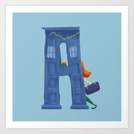 A for Amy Pond Art Print