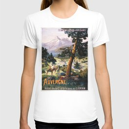Auvergne, French Travel Poster T-shirt