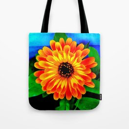 Orange Marigold Tote Bag