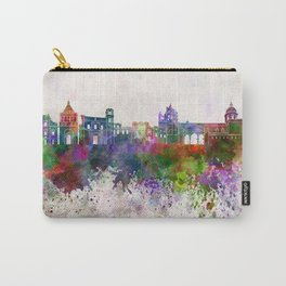 Palermo skyline in watercolor background Carry-All Pouch