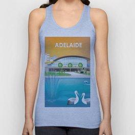 Adelaide, Australia - Skyline Illustration by Loose Petals Unisex Tank Top