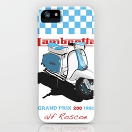 BLUE LAMBRETTA SCOOTER iPhone Case