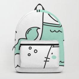 Merkitty Mint Green Backpack