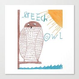 owl screech Canvas Print