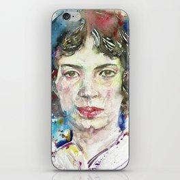 EMILY DICKINSON - watercolor portrait.3 iPhone Skin