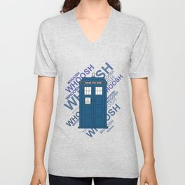 Tardis Whoosh sound Doctor Who Unisex V-Neck