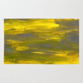 Brushed yellow & grey Rug