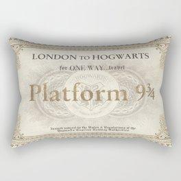 Platform 9 3/4 ticket Rectangular Pillow