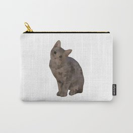 Geometric Kitten Carry-All Pouch