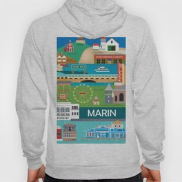 Marin County, California - Collage Illustration by Loose Petals Hoody