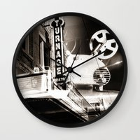theater Wall Clocks featuring Turnage Theater by Justin Alan Casey