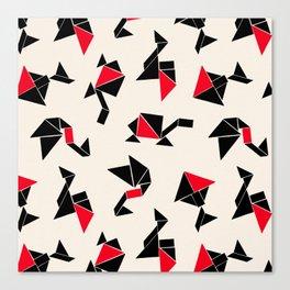 Tangram Animals Canvas Print