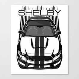 Mustang Shelby GT350 R - Dark Transparent/Multi Color Canvas Print
