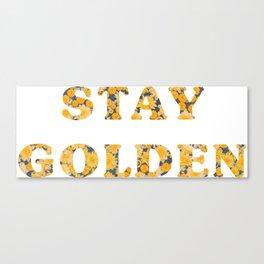 Stay Golden Sunflower Canvas Print