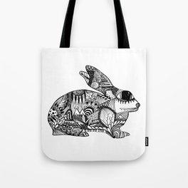Zentangle Rabbit 1 Tote Bag