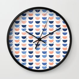 Cereal Soup Bowl Vector Pattern Seamless Wall Clock