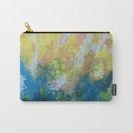 Blue Yellow Criss Cross Carry-All Pouch