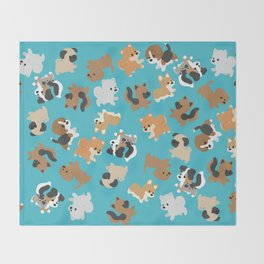 Dogs Galore Throw Blanket