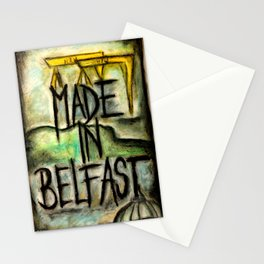 Made in Belfast oil pastel Stationery Cards