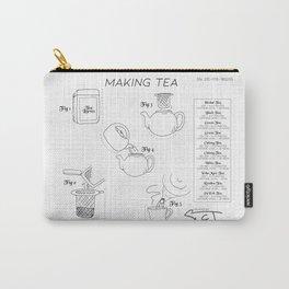 Making Tea Blueprint Carry-All Pouch