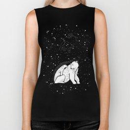Polar Bear and Constellation Arctic Night Sky Stars Biker Tank