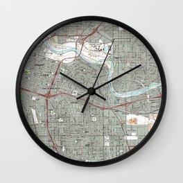 Sacramento California Map (1992) Wall Clock