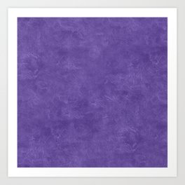 Ultra Violet Oil Pastel Color Accent Art Print