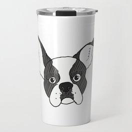 Grumpy Boston Terrier Travel Mug