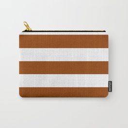 Iced tea - solid color - white stripes pattern Carry-All Pouch