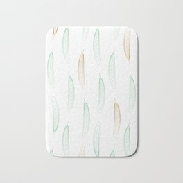 Large Feathers - Green & Gold #917 Bath Mat