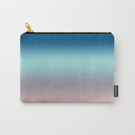 Rose Quartz Lilac Gray Limpet Shell Snorkel Blue Ombre Carry-All Pouch