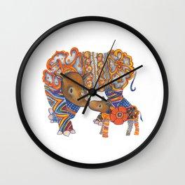 Sumatran Rhino Wall Clock