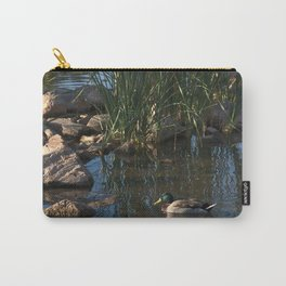 The Duck Between The Reeds And Rocks Carry-All Pouch
