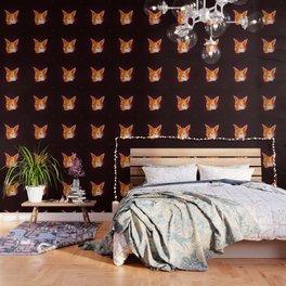 Red Little Fox Wallpaper
