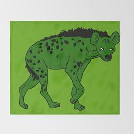 The aberrant hyena Throw Blanket