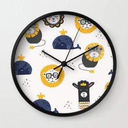 Cute animals Wall Clock