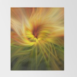 Sunflowers Twirled Throw Blanket