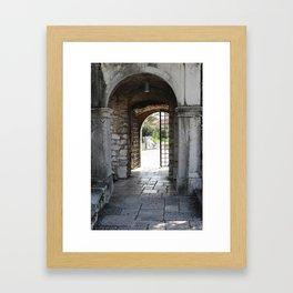Archway in Trsat Castle Framed Art Print
