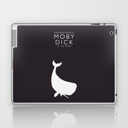 Moby Dick, Herman Melville, minimal book cover, classic novel, the whale, sea adventures Laptop & iPad Skin