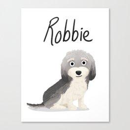 "Custom ""Robbie"" Dog Canvas Print"