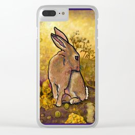 Abundance Bunny Clear iPhone Case