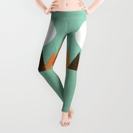 From the edge of the mountains Leggings