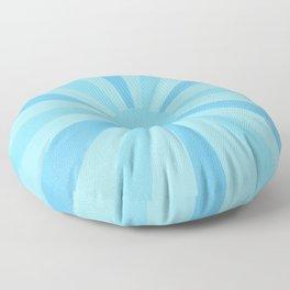 blue sunshine Floor Pillow