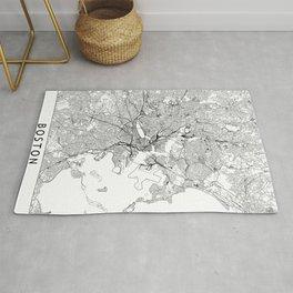 Boston White Map Rug
