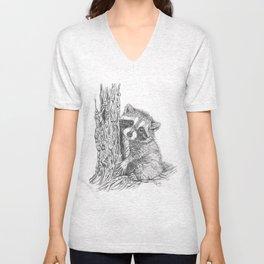 Shy Raccoon Unisex V-Neck