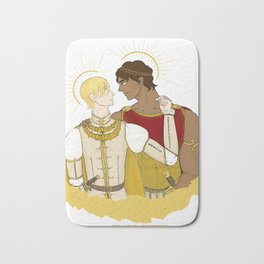 kind laurent and king damianos Bath Mat