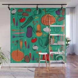 fall veggies green Wall Mural