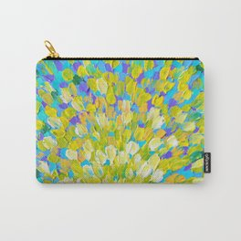 SPLASH 2 - Bright Bold Ocean Waves Beach Ripple Turquoise Aqua Lime Lemon Colorful Rainbow Wow Carry-All Pouch