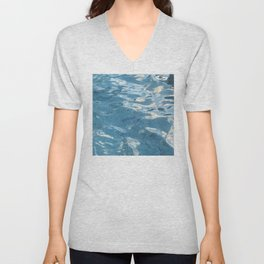 Hawaiian Water Reflections in Tile Pool Unisex V-Neck